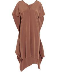 Issa Lizzie Tiefront Silksatin Dress - Lyst