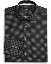 Boss by Hugo Boss Regular-Fit Micro Dot Dress Shirt - Lyst