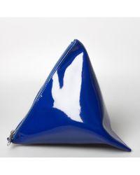 Junya Watanabe 3D Triangular Zipped Pouch Blue - Lyst