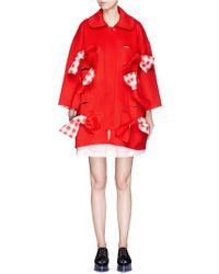 ShuShu/Tong - 'scarlet' Oversize Bow Wool Felt Coat - Lyst