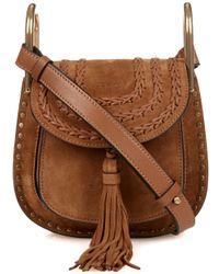 chloe hudson mini suede shoulder bag