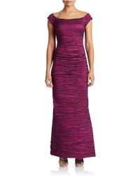 Alex Evenings Long Off The Shoulder Stretch Taffeta Dress - Lyst
