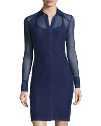 Anatomie - Mona Long-sleeve Mesh Dress - Lyst