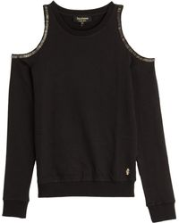 Juicy Couture Open Shoulder Beaded Pullover - Lyst