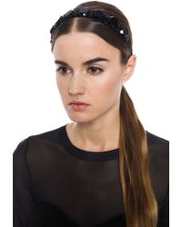 Marni Jeweled Headband - Black