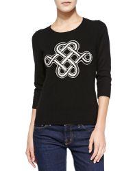 Diane Von Furstenberg Intarsia Celtic Knot Cashmere Sweater - Lyst