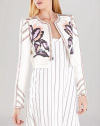 BCBGMAXAZRIA Jacket - Duke Embroidered - Lyst
