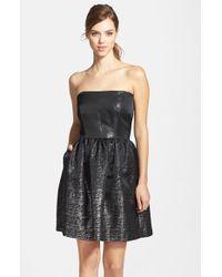 Shoshanna Jacquard Fit & Flare Dress - Lyst