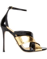Sergio Rossi Crisscross Ankle-Strap Sandals - Lyst