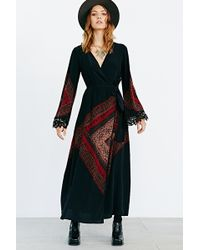 Stone Cold Fox Helena Printed Robe - Lyst
