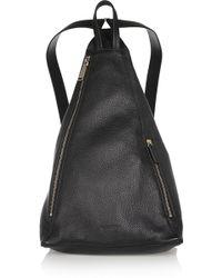 Jil Sander Textured-leather Backpack - Lyst