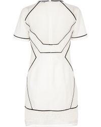 Karen Millen Lace Tshirt Dress - Lyst