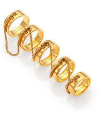 Eddie Borgo Five-finger Ring Set/goldtone - Yellow