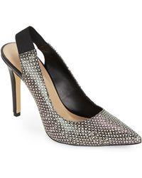 Saks Fifth Avenue Colette Leather & Leopard-Print Slingback Pumps - Lyst