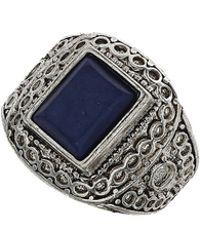 Topshop Rectangular Lapis Stone Ring  Blue - Lyst