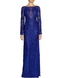 Emilio Pucci Guipure Lace and Chiffon Gown - Lyst