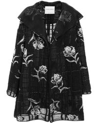 Prabal Gurung Windowpane Organza Opera Coat - Multicolor