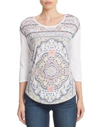 Lucky Brand Printed Top - Lyst