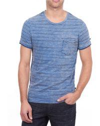William Rast - Faded Stripe Pocket T-shirt - Lyst