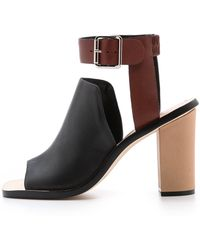 Loeffler Randall Maisy Ankle Strap Sandals Blacksaddle - Lyst