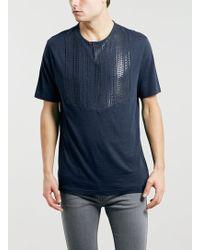 Topman Lux Navy Marl Bib T-shirt - Lyst