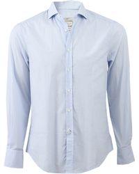 Brunello Cucinelli Print Spread Collar Shirt blue - Lyst