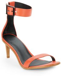Tibi Ivy Leather Sandals - Lyst