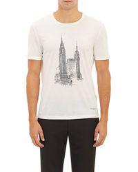 Burberry Prorsum Empire State Buildingprint Tshirt - Lyst