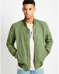 Levi's | Varsity Bomber Jacket Green | Lyst