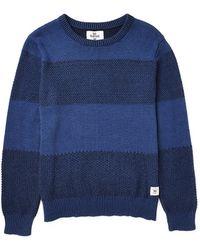 Bellfield Textured Knit Crew Neck Sweatshirt - Lyst