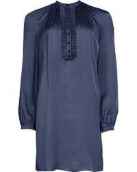 Matthew Williamson Spring Silk Gathered Tunic Dress - Lyst