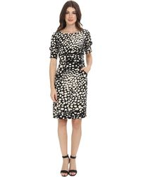 Adrianna Papell Contrast Stylelines Dress - Lyst