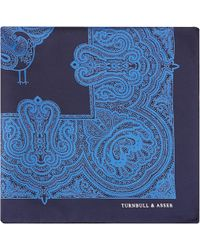 Turnbull & Asser Paisley Pocket Square Handkerchief - Lyst