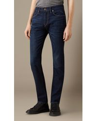 Burberry Slim Fit Stretch-Selvedge Jeans - Lyst