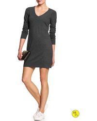 Banana Republic Factory Vee Sweater Dress - Lyst