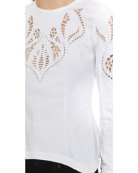 Yigal Azrouël - Embroidered Peplum Shirt - Lyst