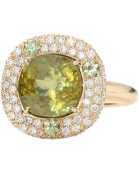Pamela Huizenga - Sphene And Diamond Ring - Lyst