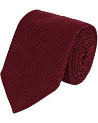 Uman - Basket-weave Necktie - Lyst