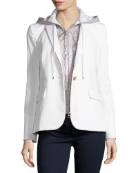 Veronica Beard Classic Jacket With Lace Dickey - Lyst