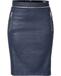 Burberry Brit - Coated Pencil Skirt - Lyst