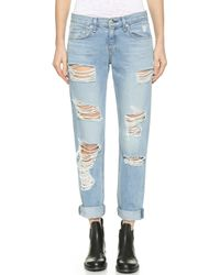 Rag & Bone The Vintage Boyfriend Jeans  - Lyst