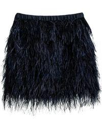 Cynthia Rowley Feather Skirt black - Lyst