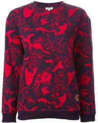 Kenzo Red Monster Sweatshirt - Lyst