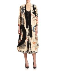 Donna Karan New York Hand-Painted Leather Coat multicolor - Lyst