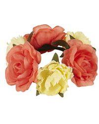 Topshop Two-Tone Flower Bun Ring pink - Lyst