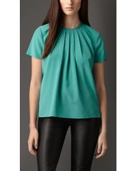 Burberry Structured Crepe Top - Lyst