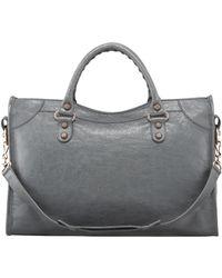 Balenciaga Giant 12 Rose Golden City Bag Gris Tarmac - Lyst