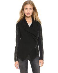 Blank - Vegan Leather & Ponte Jacket - Lyst