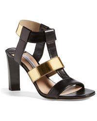 Diane von Furstenberg | Selah Contrast Sandals  | Lyst