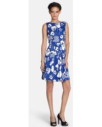 Tahari Women'S Sequin Floral Print Fit & Flare Dress - Lyst